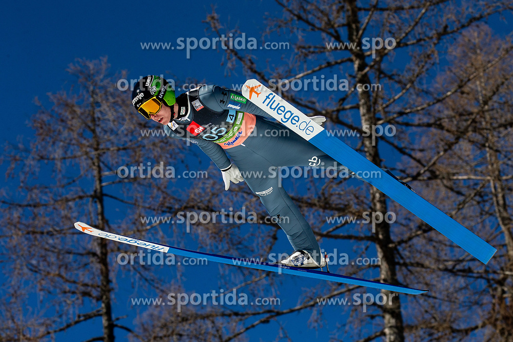 Timi Zajc (SLO) soaring through the air during the Ski Flying Hill Team Competition at Day 3 of FIS Ski Jumping World Cup Final 2019, on March 23, 2019 in Planica, Slovenia. Photo by Vid Ponikvar / Sportida