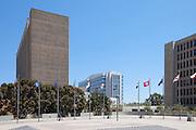 Santa Ana City Hall and the Ronald Reagan Federal Building