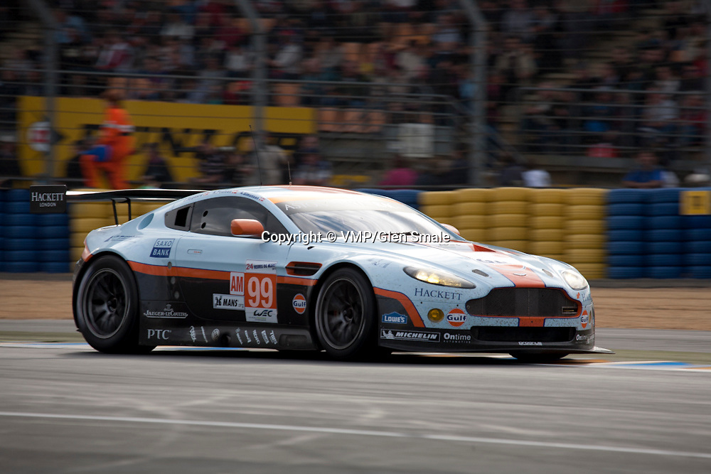 #99 Aston Martin Vantage V8, Aston Martin Racing, Drivers: Simonsen/Nygaard/Poulsen, Class: LMGTE Am, Le Mans 24H, 2012