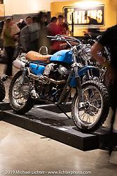 "Randy Rothlisberger's Klock Werks ""Boondoggle"" custom Buell XB9 engine in an an early Evo Sportster-style frame at the Handbuilt Show. Austin, TX. USA. Friday April 20, 2018. Photography ©2018 Michael Lichter."