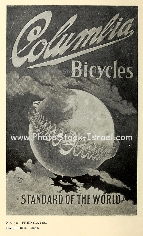 Exhibition of Columbia bicycle art poster designs by Pope Manufacturing Company, Boston in 1896. These posters were entered into a competition held by the bicycle manufacturer to find new ideas for adverts. First prize was 1 bicycle and 250$ in Cash. Second place was 1 bicycle and 50$ in Cash and 3rd place was 1 bicycle and 50$ in cash