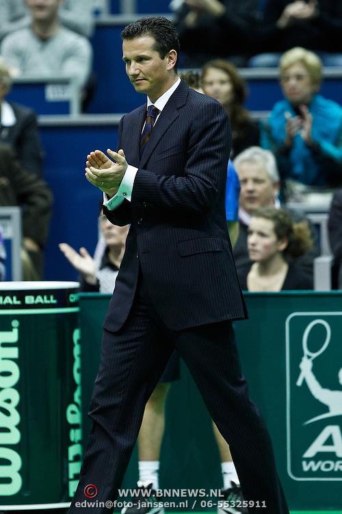 NLD/Rotterdam/20100214 - ABN - AMRO tennistoernooi 2010, finale, toernooidirecteur Richard Krajicek
