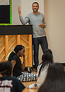 Jason Moran works with a dance class at Gregory-Lincoln Education Center where he went to school as well.