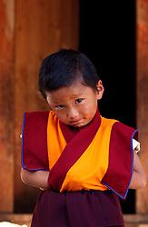 Truku Pema Wangyal, 5 years, was recognized at 4 years to be a reincarnated Buddhist Lama in Ura village. Bhutan. (Ami Vitale)