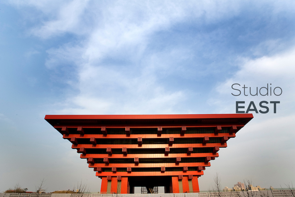 The Chinese Pavilion is under construction, on Shanghai World Expo site, in Shanghai, China, on March 12, 2010. Photo by Lucas Schifres