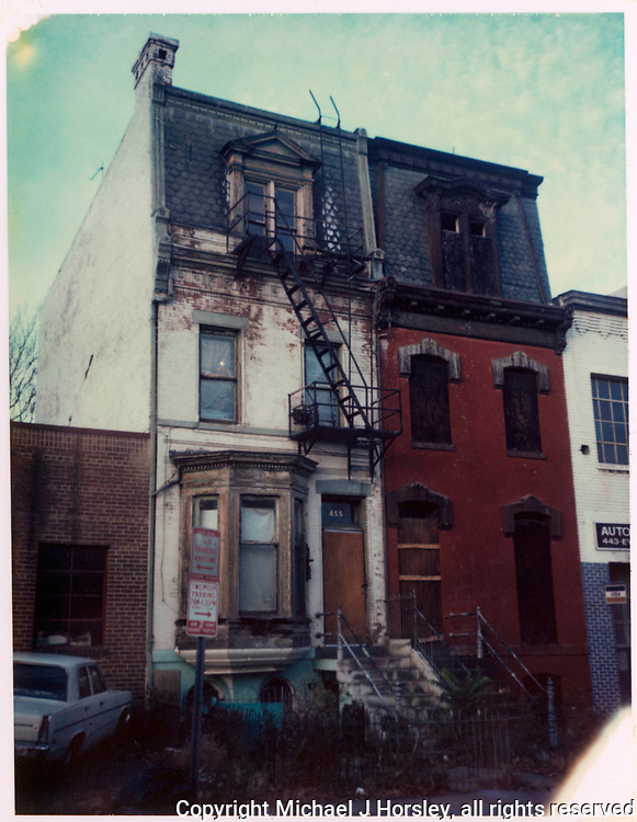 455 I street NW Washington DC, 1986<br /> Polaroid