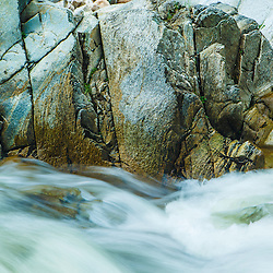 Upper Falls on the Mill RIver in Clarendon Gorge in Vermont's Green Mountains. Appalachian Trail.