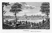 Vienna, c1790.  City viewed across the river Danube.