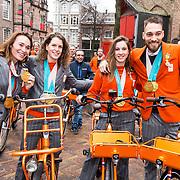 NLD/Den Haag/20180323 - Huldiging Olympische en Paralympische medaillewinnaars, Bibian Mentel, Ireen Wust, Suzanne Schulting en Kjeld Nuis