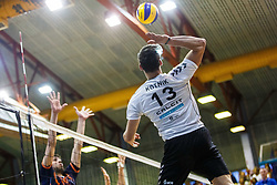 Kotnik Domen of Calcit Volley during volleyball match between Calcit Volley and ACH Volley in Final of 1. DOL Slovenian Man national Championship 2016/17 on 24th of April, 2017 in Kamnik, Slovenija.  Photo by Grega Valancic / Sportida