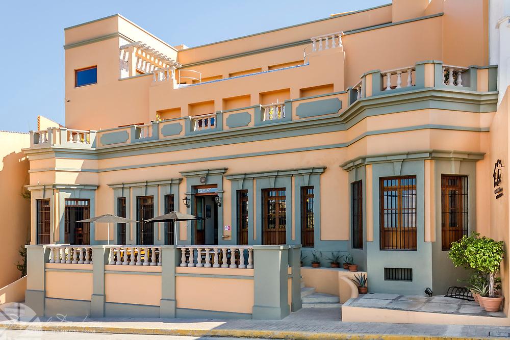 View of the Casa Lucila boutique hotel, Olas Atlas No. 16, Centro, Mazatlan, Mexico