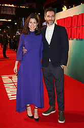 Jasmine Hemsley and boyfriend Nick Hopper attending the Tomb Raider European Premiere held at Vue West End in Leicester Square, London.