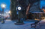 Middletown, New York - Snowy scene on Dec. 11, 2016.