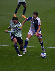 Ben Brereton of Blackburn Rovers (R) and Sean Morrison of Cardiff City in action - Mandatory by-line: Jack Phillips/JMP - 03/10/2020 - FOOTBALL - Ewood Park - Blackburn, England - Blackburn Rovers v Cardiff City - English Football League Championship