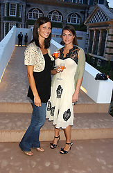 Left to right, JADE LOVEJOY and HOLLY DAVIDSON sister of Sadie Frost at a summer party hosted by champagne house Krug held at Debbenham House, 8 Addison Road, London on 28th June 2005.<br /><br />NON EXCLUSIVE - WORLD RIGHTS