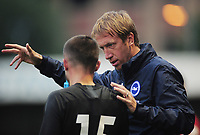 Football - 2019 -2020 Crawley Town v Brighton and Hove Albion<br /> <br /> Graham Potter - New Brighton Manager gives instructions to George Fox<br /> <br /> COLORSPORT/ANDREW COWIE