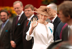 Princes Mathilde of Belgium, arrives for the Belgian National Day Parade in Brussels, July 21, 2000. (Photo © Jock Fistick)