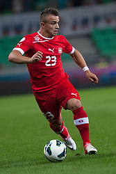 Xherden Shaqiri of Switzerland during qualification football match for World Cup 2014 in Brazil between national team of Slovenia and Switzerland, on September 7, 2012 in Ljubljana, Slovenia. (Photo by Matic Klansek Velej / Sportida.com)