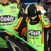 Race car driver Danica Patrick is seen on the starting grid prior to the NASCAR Sprint Unlimited Race at Daytona International Speedway on Saturday, February 15,  2014 in Daytona Beach, Florida.  (AP Photo/Alex Menendez)