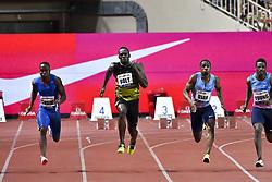 July 21, 2017 - France - Usain Bolt (Jamaique) - Chijindu Ujah (Grande Bretagne) - Akani Simbine (Republique Sud Africaine) - Isiah Young  (Credit Image: © Panoramic via ZUMA Press)