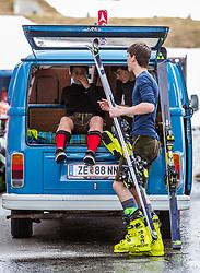 12.05.2018, Grossglockner Hochalpenstrasse, Fusch a.d. Glocknerstrasse, AUT, Großglockner Trophy Fuschertörllauf, im Bild Teilnehmer mit Lederhose und Skischuhe in einem VW T1 Bus // Participants with leather pants and ski boots in a VW T1 bus during the Großglockner Trophy Fuschertörl Skirace at the Grossglockner Hochalpenstrasse, Fusch a.d. Glocknerstrasse, Austria on 2018/05/03. EXPA Pictures © 2018, PhotoCredit: EXPA/ JFK