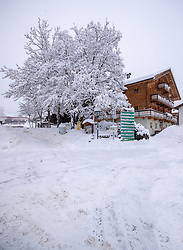 THEMENBILD - Tiefverschneite Winterlandschaft hier im Ortsteil Grossdorf. Von Sonntag 13. Jänner auf Montag 14. Jänner 2019 sind in Kals erhebliche Mengen Schnee gefallen. Kals am Großglockner, Österreich am Montag, 14. Jänner 2019 // Snow-covered winter landscape here in the district Grossdorf. From Sunday 13th January to Monday 14th January 2019, significant amounts of snow have fallen in Kals. Monday, January 14, 2019 in Kals am Grossglockner, Austria. EXPA Pictures © 2019, PhotoCredit: EXPA/ Johann Groder