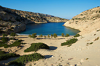 Grece, Crete, Matala, baie et plage de Vathi // Greece, Crete, Matala, Vathi bay and beach