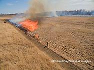 63863-02905 Prescribed Burn by IDNR Prairie Ridge State Natural Area Marion Co. IL