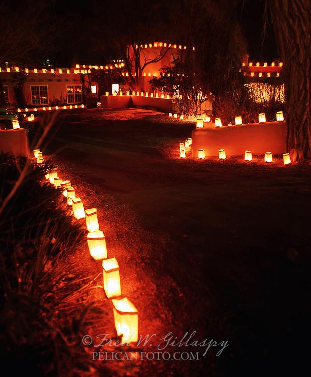 Christmas on Canyon Road, Sante Fe, New Mexico