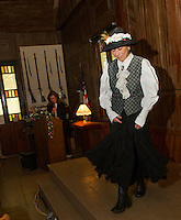 Thompson Ames Historical Society tea and luncheon along with an 1800's fashion show Saturday, October 13, 2011.  (Karen Bobotas/for the Laconia Daily  Sun)