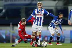 (L-R) Rico Strieder of FC Utrecht, Martin Odegaard of sc Heerenveen during the Dutch Eredivisie match between sc Heerenveen and Willem II Rotterdam at Abe Lenstra Stadium on March 17, 2018 in Heerenveen, The Netherlands