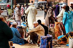 A general view of the carpet market in in Tazenakht, southern Morocco, Africa<br /> <br /> (c) Andrew Wilson | Edinburgh Elite media