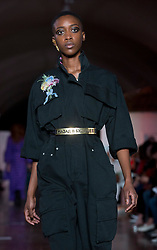 Models on the catwalk during the Natasha Zincoa London Fashion Week SS18 show held at Somerset House Trust, London. PRESS ASSOCIATION. Picture date: Tuesday September 19, 2017. Photo credit should read: Isabel Infantes/PA Wire