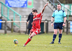 Photographer Craig Thomas/Replay Images<br /> <br /> WRU Bowl Semi Final - Pembroke RFC v Cardiff Uni - Saturday 31st March 2018 - Crickmarren Field - Pembroke<br /> <br /> World Copyright © Replay Images . All rights reserved. info@replayimages.co.uk - http://replayimages.co.uk
