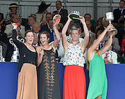 Henley, GREAT BRITAIN. [The Princess Grace Challenge Cup (W4x)]  AUS. collect their Prize from The Rt. Hon. The Lord Mayor of London. Alderman David WOTTON  at 2012 Henley Royal Regatta...Sunday  17:57:38  01/07/2012. [Mandatory Credit, Peter Spurrier/Intersport-images]...Rowing Courses, Henley Reach, Henley, ENGLAND . HRR.
