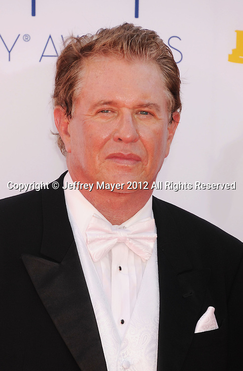 LOS ANGELES, CA - SEPTEMBER 23: Tom Berenger  arrives at the 64th Primetime Emmy Awards at Nokia Theatre L.A. Live on September 23, 2012 in Los Angeles, California.