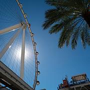 A ferris wheel in Las Vegas, Nevada on Saturday, October 17, 2020. (Alex Menendez via AP)