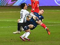 Football - 2020 / 2021 Sky Bet Championship - Swansea City vs Barnsley - Liberty Stadium<br /> <br /> Yan Dhanda of Swansea collides with Jack Walton of Barnsley <br /> COLORSPORT/WINSTON BYNORTH