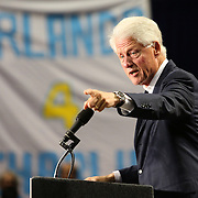 Former President Bill Clinton speaks in support of Florida Democratic gubernatorial candidate Charlie Crist and running mate Annette Taddeo during a campaign event on Monday, Nov. 3, 2014, at the UCF Arena in Orlando, Fla. Crist, a former Florida Republican governor, is running against Republican Florida Gov. Rick Scott.  (AP Photo/Alex Menendez)