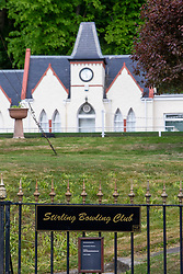 Work on the green at Stirling Bowling Club on Albert Place, Stirling, after Golf, tennis & bowls were permitted to return in Scotland next week.
