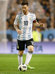 May 29, 2018 - Buenos Aires, Argentina - BUENOS AIRES, AR - 29.05.2018: ARGENTINA X HAITI - Lionel Messi of Argentina during a friendly match between Argentina and Haiti, held at the Alberto José Armando Stadium, known as La Bombonera, located in the La Boca neighborhood in the capital of Buenos Aires. (Credit Image: © Marcelo Machado De Melo/Fotoarena via ZUMA Press)