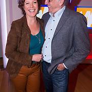 NLD/Hilversum/20130826 - najaarspresentatie 2013 omroep Max, Myrna Goossen en Henk Mouwe