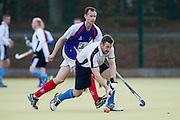 Bishop's Stortford Vets v West Herts - EH O40s Cup, Hockerill College, Bishop's Stortford, UK on 15 November 2015. Photo: Simon Parker