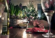 Nederland, Wijchen, 25-12-2014Samenzijn van de familie met kerstmis, 1e kerstdag. Na het kerstdiner is het gezellig natafelen.FOTO: FLIP FRANSSEN/ HOLLANDSE HOOGTE