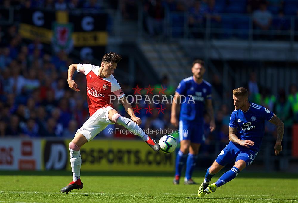 CARDIFF, WALES - Sunday, September 2, 2018: Arsenal's Mesut Özil during the FA Premier League match between Cardiff City FC and Arsenal FC at the Cardiff City Stadium. (Pic by David Rawcliffe/Propaganda)