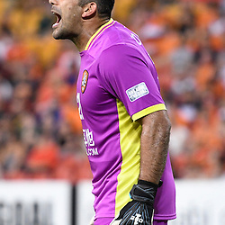 BRISBANE, AUSTRALIA - FEBRUARY 21: Jamie Young of the Roar gives instructions during the Asian Champions League Group Stage match between the Brisbane Roar and Muangthong United FC at Suncorp Stadium on February 21, 2017 in Brisbane, Australia. (Photo by Patrick Kearney/Brisbane Roar)