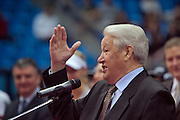 Moscow, Russia, 16/10/2004..The WTA Kremlin Cup tennis tournament. First Russian President Boris Yeltsin awards the Boris Yeltsin stipend to Russia's most promising young tennis players. The awards of up to $15,000 each are overseen by the Russian Tennis Federation as a way of developing young tennis talent.