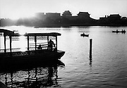 C011-27_Tom Hutchins_Boating in the late afternoon, Peihei Park, Peking, China 1956 A2.tif