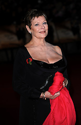 Judi Dench arrives for the World premiere of 'Quantum Of Solace' at the Odeon Leicester Square, WC2.