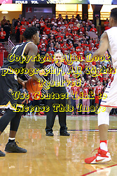 14 January 2017:  Terry Davis counts time during an NCAA  MVC (Missouri Valley conference) mens basketball game between the Wichita State Shockers the Illinois State Redbirds in  Redbird Arena, Normal IL